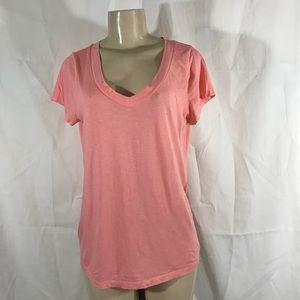 Ann Taylor LOFT pink short sleeves blouse